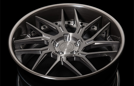 agl35 spec2 concave forged wheels brushed gunmetal