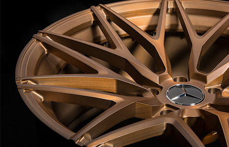 agl40 monoblock concave forged wheels matte brushed monaco copper finish
