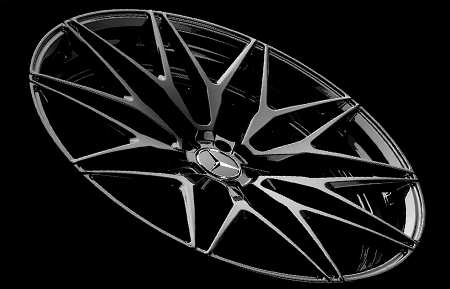 agl40 monoblock concave forged wheels gloss black mercedes benz mercedes-benz