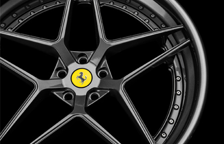 agl42 spec3 three piece rims forged concave wheels gloss gunmetal rim agwheels ferrari agluxury avant garde luxury wheel