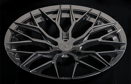 agl43 forged monoblock concave mesh wheels gloss gunmetal gray