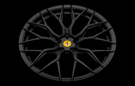agluxury wheels agl43 monoblock matte textured black ferrari 488 21in 21inch 22inch 22in staggered kctrends rims custom concave forged hre forgiato rotiform vossen adv.1