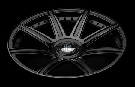 agluxury wheels agl22 agl22-8r duo block matte black gloss two tone rolls royce wraith dawn phantom cullinan 24in 24inch vossen forgiato vellano suv 8 spoke