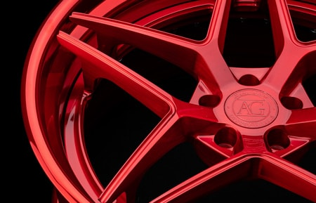 agluxury wheels agl42 spec3 rims custom forged concave three piece 21in 21inch 20inch 20in brushed polished candy red five spoke split