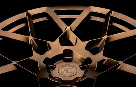 agl55 agluxury wheels rims custom forged monoblock concave lamborghini lambo urus polished bronze 23in 23inch