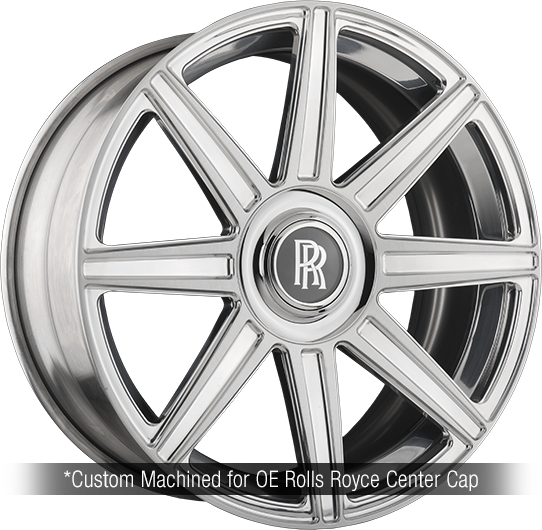 agl22 8 spoke rolls royce forged concave wheels