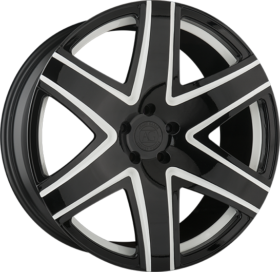 agl34 monoblock forged concave six spoke wheels