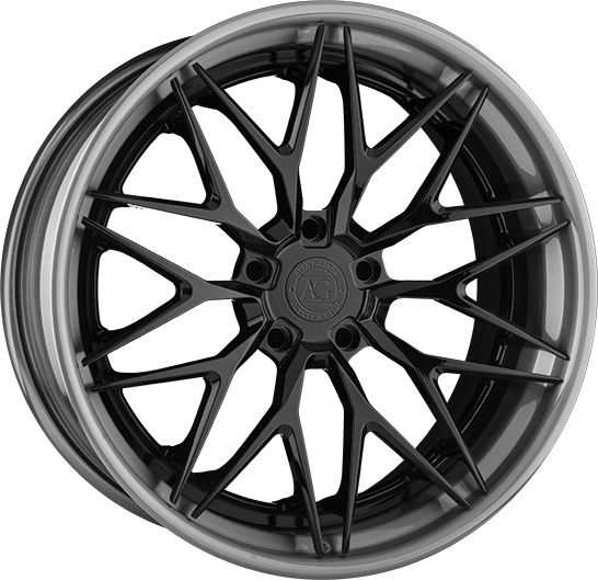 agl27 duoblock agwheels avant garde agluxury wheel wheels rim rims five spoke split matte black