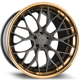 agluxury agl43 monoblock concave forged wheels rims custom three piece matte candy black polished bronze mesh
